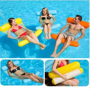 2019 style chaud avec double arrière et arrière rabattable hamac chaise maille flotteur natation pont récréatif eau flottant canapé-lit