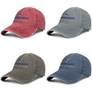 Emerson Industrial Automation Männer Frauen individuelle Vintage Denim Adjustable Wäsche Flach Hut Travel Kappe