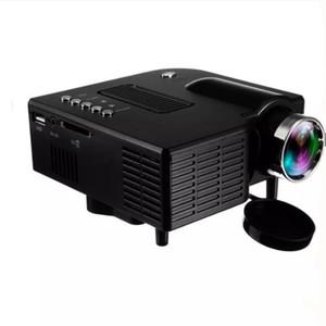 UC28 + Portable 3D LED proiettori Home Cinema Teatro UC28 USB / SD / AV HDMI Ingresso VGA mini multimedia di intrattenimento della tasca Beamer all'ingrosso