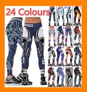 Femmes en gros Legging imprimé collants Leggings d'entraînement Slim pantalon de yoga de haute taille élastique extensible de jogging Gym Collants large fitness ceinture