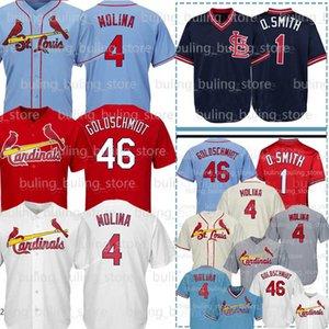 46 Paul Goldschmidt Jerseys 4 Yadier Molina 1 Ozzie Smith Jersey 28 Nolan Arenado Baseball Jerseys