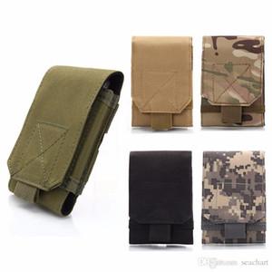 Equipamento Outdoor Tactical Holster Exército MOLLE Camouflage Bag gancho cinto Bolsa Holster Case Capa Para Celular WS-55