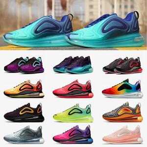 Nike air max 720 Yeni varış erkekler kadınlar için 720 koşu ayakkabıları Metalik Gümüş üçlü siyah KARBON GRI SUNSET nefes eğitmenler spor sneakers