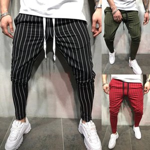 Мужские полосатые повседневные брюки Slim Fit Узкие прямые ноги Городские брюки Спортивные брюки Slim Fit Брюки Бегуны Спортивные брюки в полоску