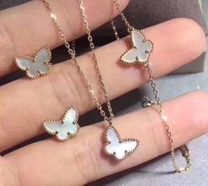 Mujeres lujosas S925 plata pura pulsera con la mariposa blanca de la cáscara naturaleza para las mujeres y novia de regalo de boda joyas caída de envío