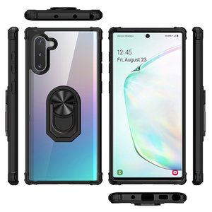 Designer For Samsung Note10 Pro 9 S10E S10 A7 A9J6 J4 J7 G530 Metal Ring Dual-Layer Protection Rounded TPU PC Shockproof Phone Case Cover