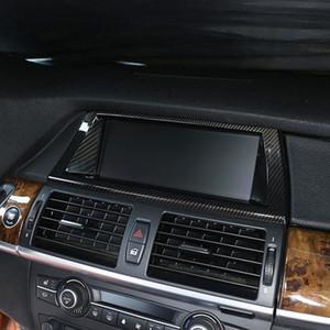 Стайлинг автомобиля центральная консоль навигационная рамка украшение крышка отделка для BMW X5 E70 X6 E71 2008-2014 интерьер автоаксессуары