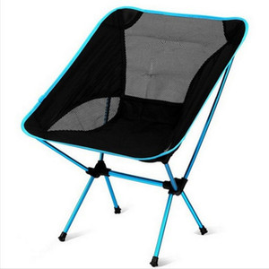Portátil Camping Beach Chair Lightweight Folding pesca Outdoorcamping Outdoor Cadeiras Ultra Dark Light Red Orange Beach Azul