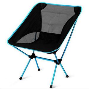 Portátil Campamento Playa silla ligera plegable al aire libre de pesca Outdoorcamping Ultra Sillas Naranja Rojo oscuro Azul Beach