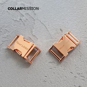 100pcs / lot 15mm Gravur Schnalle, wir bieten Laser-Gravur-Service anpassen LOGO plattierten Metallschnalle für DIY Hundehalsband Zubehör CK15M