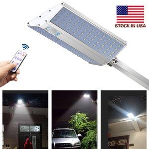 Outdoor Street Wall Lamp Microwave Radar Motion Security light 96led 1200 lumens 3 working mode IP65 Garden solar light +US Stock