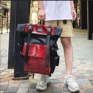2020 zaino unisex Street Style 2019 dello zaino di corsa Pacchetto Streetwear Big coreano Vintage moda Oxford Hiphop Uomo
