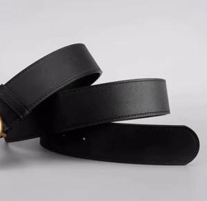 Marca Cinturón clásico de la manera Diseñador Cinturón lujo de las mujeres de los hombres de las mujeres ocasionales GG hebilla de oro logotipo de la letra Smooth 2.0-38mm Hebilla Ancho