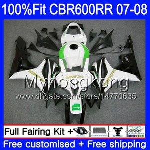 Kit iniezione per HONDA HANNSpree verde CBR 600RR 600F5 CBR 600 RR F5 07 08 283HM.14 CBR600F5 CBR600RR 07 08 CBR600 RR 2007 2008 Carene