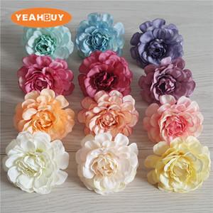 5 cm 100 adet 12 renkler yapay açelya çiçek kafa şakayık gül DIY rhododendro düğün çiçekleri çelenk çelenk ev dekor çiçek sahne