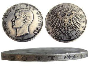 Alemania Alemania Baviera moneda 5 marca plata 1902D Otto Copia Monedas al por mayor