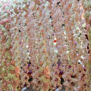 Artificiale Cherry blossom rattan 1,8 m di nozze fai da te fiore di seta della vite aggiornamento nuova decorazione per lo sfondo albergo vetrina arredamento