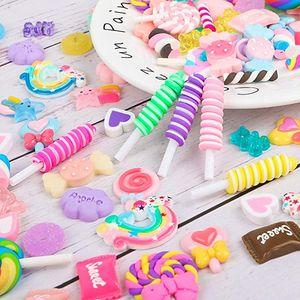 yapma ve süs scrapbooking şekerler kek tatlılar balçık takılar dekorasyon simülasyon gıda diy reçine zanaat 20 seçenekler çeşitli