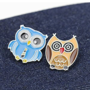 Cute Owl Cartoon Brooches Colorful Enamel Brooch Pin Badge Decorative Jewelry Style Brooches For Women Gift 08