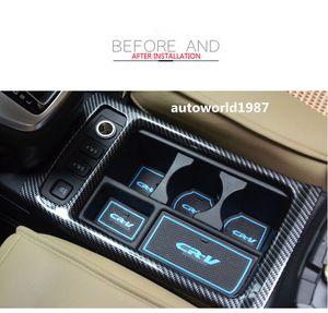 İç Honda Için CRV2015-16 ABS Karbon Fiber Stil Su Cam Dekoratif Kutu