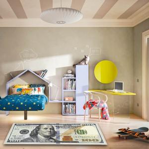 Creativo antiscivolo coperta di zona moderna casa divertente decorativo Tappeti dollaro stampato tappeto un centinaio di dollari di stampa