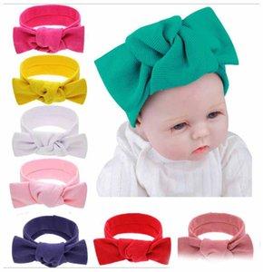 Inverno do bebê Turban malha coelho ouvido Headbands Moda proteção Ear Crochet Headwear Meninas Acessórios Cabelo adereços fotografia infantil