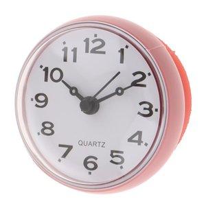 Reloj de baño impermeable portátil pequeño reloj de pared con ventosa