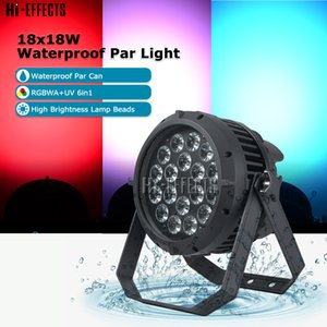LED Par DMX 18x18W Водонепроницаемый Par Light Stage Lighting LED Par Can RGBWA + UV 6in1 для Disco Party Ночной клуб Свадьба Dj оборудование