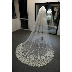 Brautschleier Blatt-Frau-Kapelle Brautschleier 3D Blumen Brautschleier Handmade Mithelfer