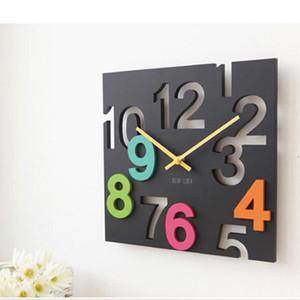 Horloge murale suspendue créative Design moderne 3D nouveauté Europe silencieuse Style Design creux horloges de table mur Home Decor 30 cm