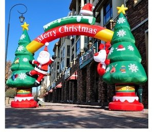 2020 Venda Quente Inflável Santa Air Molde de Natal Árvore de Natal Molde de Natal Dos Desenhos Animados Snowman Train Model