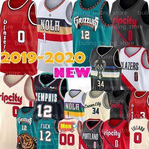 Portland Damian 0 Lillard Trail Carmelo 00 Anthony Blazers Jersey Memphis Ja 12 Morant Grizzlies Zion 1 Williamson C.J 3 McCollum