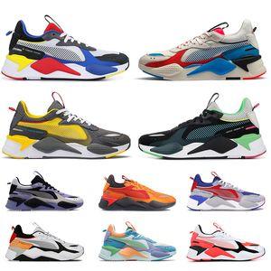Puma RS X Hasbro Chaussures de course Femmes Hommes JOUETS Reinvention trophy Transformers Noir Or Hommes Baskets Sport Sneakers