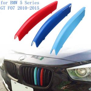 3 adet Araba Ön Izgara Kapak Trim Sticker BMW 5 Serisi GT F07 2010-2015 Için DIY Dekorasyon Şeritleri