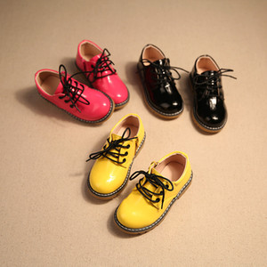 spring and autumn new leather boys and girls waterproof shoes kids children formal shoes boys black school formal sho