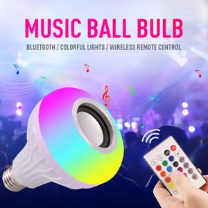 Uzaktan 24 Keys Kumanda ile E27 Akıllı LED Işık RGB Kablosuz Bluetooth Hoparlör Ampul Lamba Müzik Çalma Dim 12W Müzik Çalar Ses