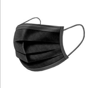 Livre DHL navio! Andrtificationprotective 3 Camada Máscaras máscara preta Non Woven Dusk 2 Ply FaShield Cpr Boca Polution LHWD