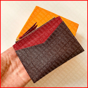 M62257 titulaire de la carte à glissière porte-carte zippé porte-monnaie porte-clé de luxe portefeuille pochette marque marque cas mini-poche