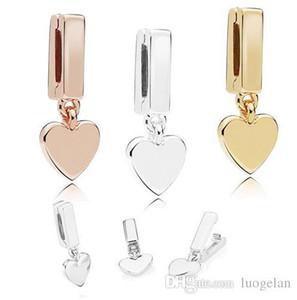 Automne 2018 925 bijoux en argent sterling Reflections Clips Floating Breloque Perles Pandora Bracelets Fits collier pour femmes Bijoux