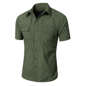 2019 Yeni Yaz Erkekler Taktik Gömlek Kısa Kollu Çabuk Kuruyan Nefes Spor Açık Avcılık Savaş Gömlek