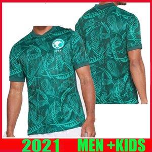 2020 2021 SUUDİ ARABİSTAN Futbol Forma uzakta yeşil 20 21 Erkek Suudi Arabistan EDUARDO Botía Kısa Kollu Futbol Gömlek de ayak Tayland Maillot'a