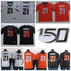 Oklahoma State Cowboys Jersey 21 Barry Sanders Jersey NCAA College Football Jersey Red Noir Blanc Orange Hommes de Cousu 150E