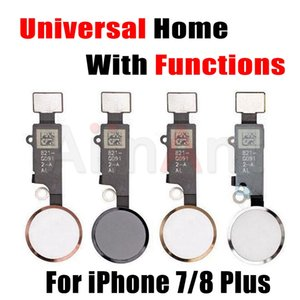 Bouton Universal Home Pour Apple iPhone 7 8 Plus Retour Fonction Home Solution Flex câble ruban Pièces de rechange No Touch ID