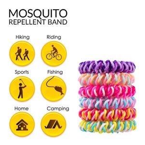 Комары Рука Кольцо Триколор Противомоскитного телефонная линия волосы кольцо против комаров браслета 300pcs Pest Control CCA11531-A