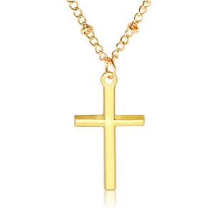40pcs / lotti Europeo e American Fashion Ley Cross Jesus Ciondolo collana gioielli religiosi uomini e donne gioielli coppia T-75