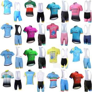 ASTANA ekibi Bisiklet Kısa Kollu forması önlük şort 2020 binme bisiklet adam Yaz nefes giyimin C618-3