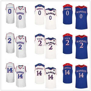 Kansas Jayhawks College Marcus Garrett #0 Malik Newman #14 Lagerald Vick #2 Баскетбольные Майки Мужские Сшитые На Заказ Любое Число Имя
