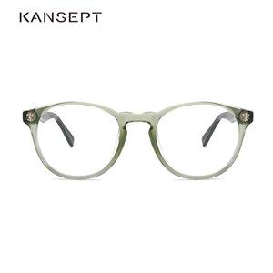 Kansept Women Gloss Frame Women Vintage Myopia Optical Transparent Eyeglasses Frame New Arrival Round Frame # FG6003