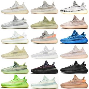 Wholesale Trainer Best Quality Cheap Kanye West Running Shoes Cloud White Black Angle