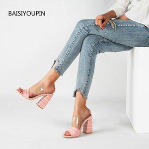 الأزياء مضخات أحذية الكعوب المرأة الصيف النعال 11CM عالية الجودة الجيدة تركيب غرفة الصلبة حزب السيدات خارج أنثى الشرائح